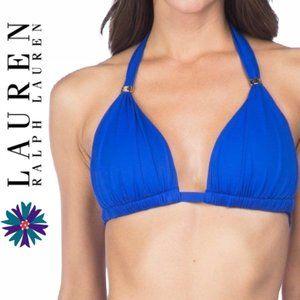 Lauren Ralph Lauren's Triangle Halter Bikini Top